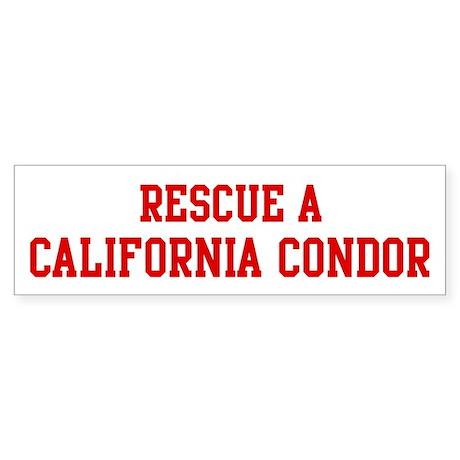 Rescue California Condor Bumper Sticker