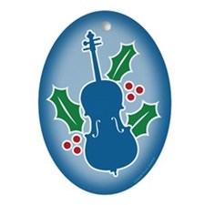 Cello Holly Oval Ornament