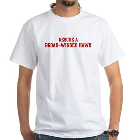 Rescue Broad-Winged Hawk White T-Shirt