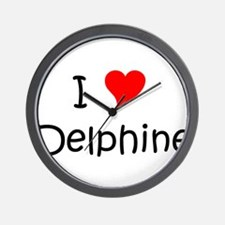 Funny Delphine Wall Clock