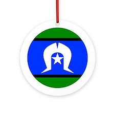 Torres Strait Islander Flag Round Ornament