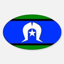 Torres Strait Islander Flag Oval Decal