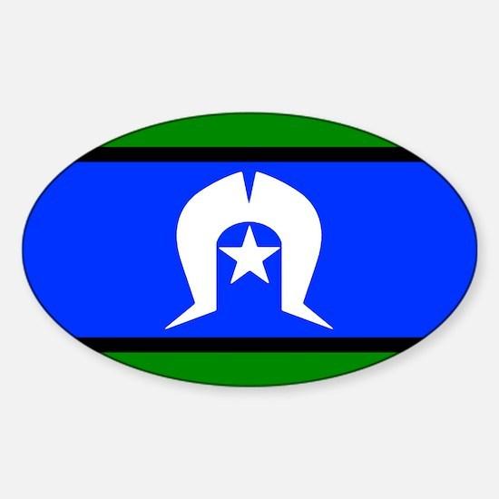 Torres Strait Islander Flag Oval Decal