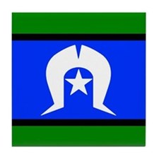 Torres Strait Islander Flag Tile Coaster