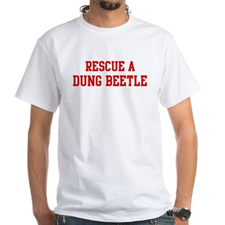 Rescue Dung Beetle White T-Shirt