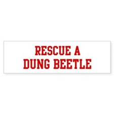 Rescue Dung Beetle Bumper Sticker (10 pk)