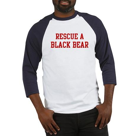 Rescue Black Bear Baseball Jersey