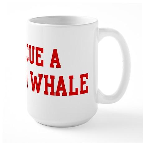 Rescue Beluga Whale Large Mug