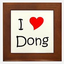 Unique I love ding dongs Framed Tile