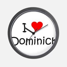Cute I love dominick Wall Clock