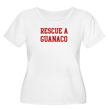 Rescue Guanaco Women's Plus Size Scoop Neck T-Shir