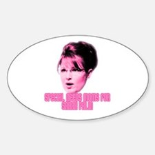 Palin Special Needs Moms Oval Decal