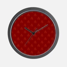 FLAMES - RED Wall Clock