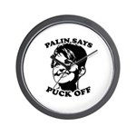 Palin says Puck Off Wall Clock