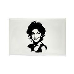 Sarah Palin Retro Rectangle Magnet (100 pack)