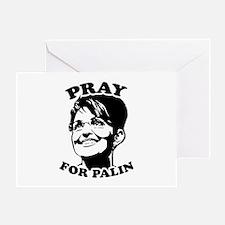 Pray for Palin Greeting Card