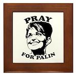 Pray for Palin Framed Tile