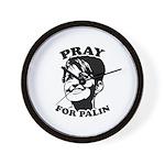 Pray for Palin Wall Clock