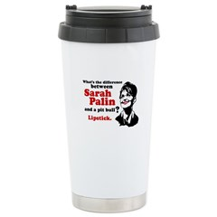 Difference between Palin and a Pit bull? Travel Mug