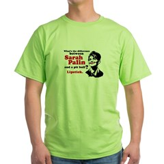 Difference between Palin and a Pit bull? Green T-S