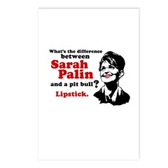 Difference between Palin and a Pit bull? Postcards