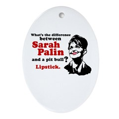 Difference between Palin and a Pit bull? Ornament