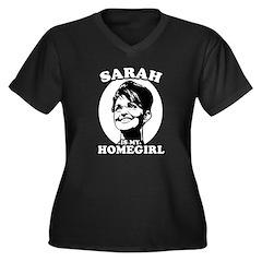 Sarah Palin is my homegirl Women's Plus Size V-Nec