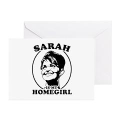 Sarah Palin is my homegirl Greeting Cards (Pk of 2
