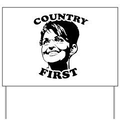 SARAH PALIN: Country First Yard Sign