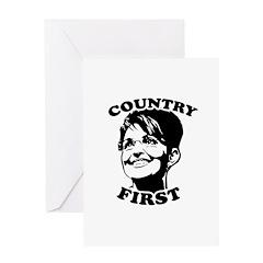 SARAH PALIN: Country First Greeting Card