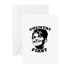 SARAH PALIN: Country First Greeting Cards (Pk of 1