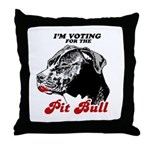 I'm voting for the Pit Bull Throw Pillow