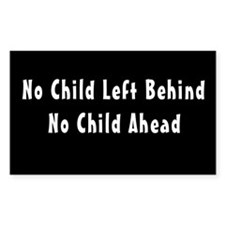 No Child Left Behind Rectangle Decal