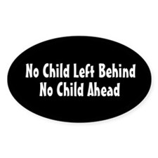 No Child Left Behind Oval Decal