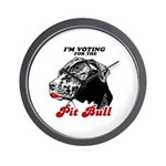 I'm voting for the Pit Bull Wall Clock