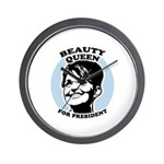 Beauty Queen for President Wall Clock
