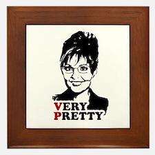 SARAH FOR VP = Very Pretty Framed Tile