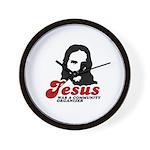 Jesus was a community organizer Wall Clock