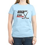 Hockey Moms for Palin Women's Light T-Shirt