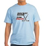 Hockey Moms for Palin Light T-Shirt