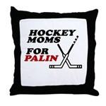 Hockey Moms for Palin Throw Pillow