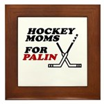 Hockey Moms for Palin Framed Tile