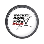 Hockey Moms for Palin Wall Clock