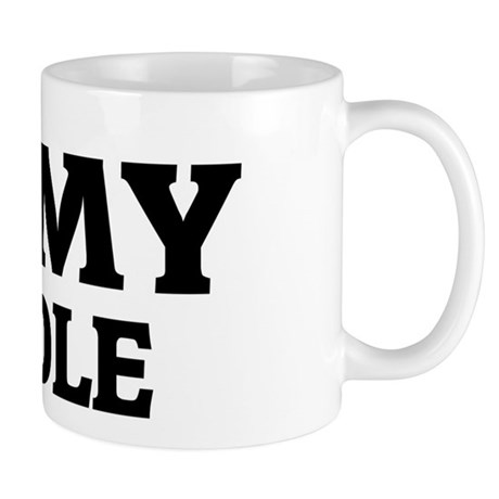 I Love My Poodle Mug