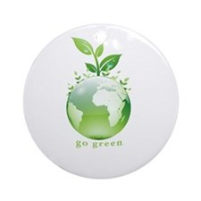 Green World Ornament (Round)