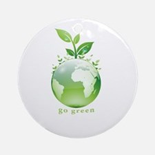 Green World Ornament (Round)