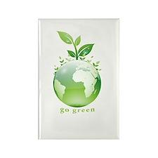 Green World Rectangle Magnet (100 pack)