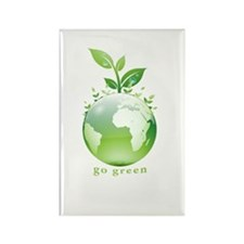 Green World Rectangle Magnet