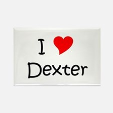 Cute I heart dexter Rectangle Magnet