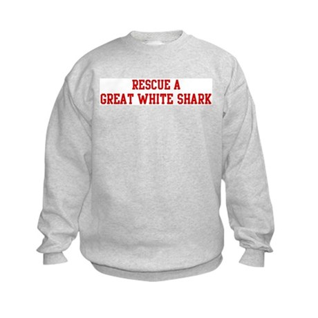 Rescue Great White Shark Kids Sweatshirt